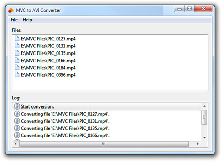 MVC to AVI Converter Screenshot